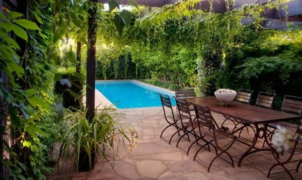 schwimmbad design mit grün