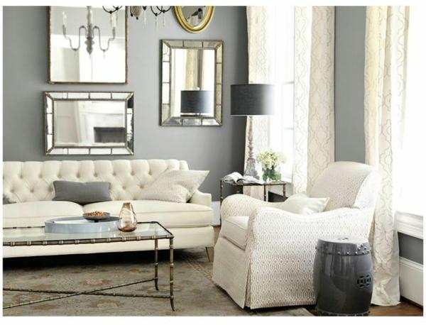silber wandfarbe und helle möbel