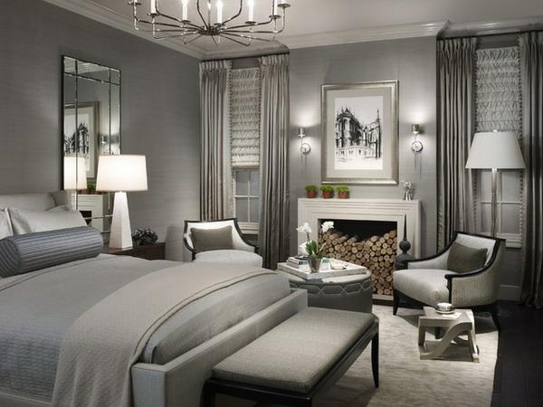 silbernes ambiente schlafzimmer