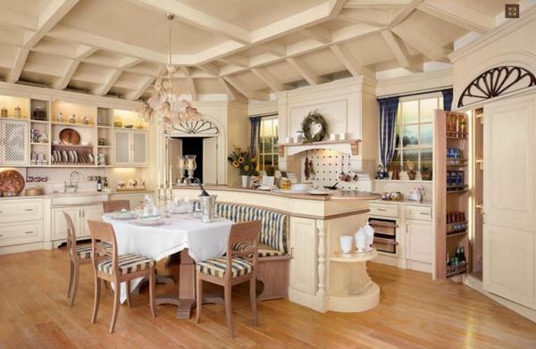 Kücheneinrichtung  Küchengestaltung im Landhausstil