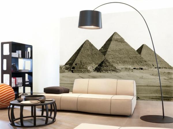 stein tapeten mit ägyptischen pyramiden