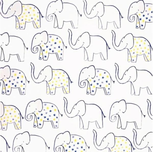 tapeten babyzimmer tapetenmuster elefanten