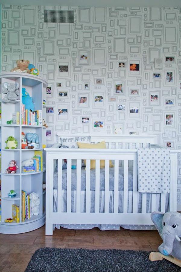 babyzimmer tapeten gestalten wandgestaltung mit bildern tapetenmuster