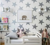Tapete kinderzimmer sterne  Babyzimmer Tapeten schaffen eine fröhliche Stimmumg im Raum