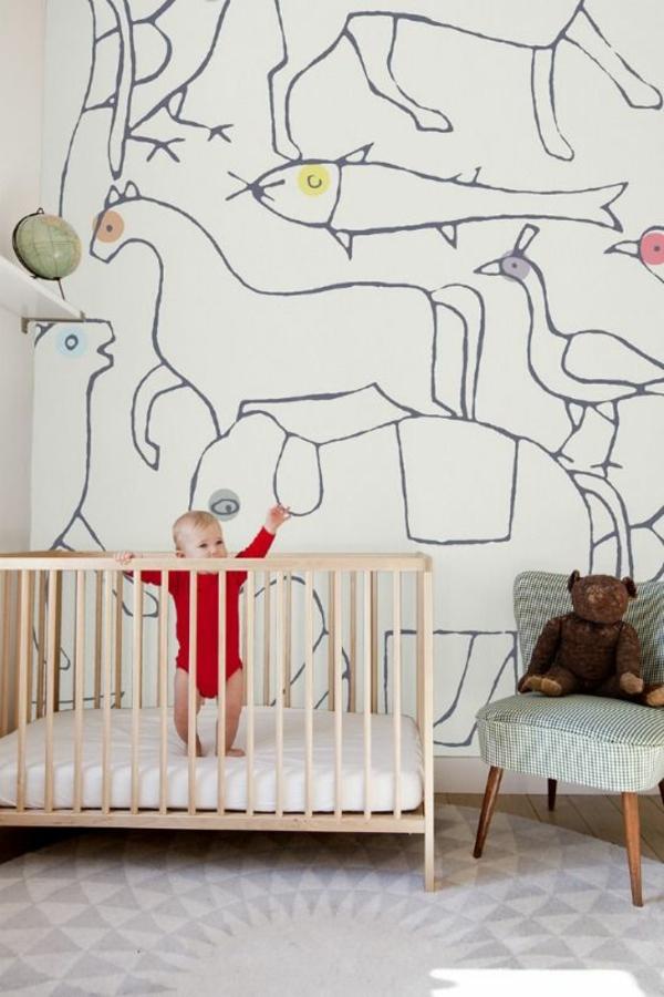 babyzimmer tapeten gestalten wandgestaltung tapetenmuster