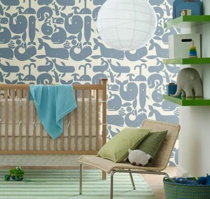 babyzimmer tapeten schaffen eine fr hliche stimmumg im raum. Black Bedroom Furniture Sets. Home Design Ideas