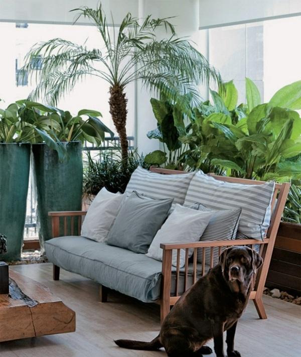 terrassengestaltung-ideen-farbgestaltung-grün-hauptfarbe-kübelpflanzen