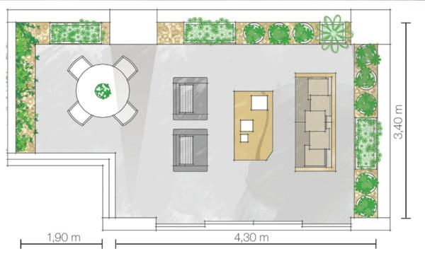 terrassengestaltung-ideen-farbgestaltung-grün-hauptfarbe-zimmerpflanzen-plan