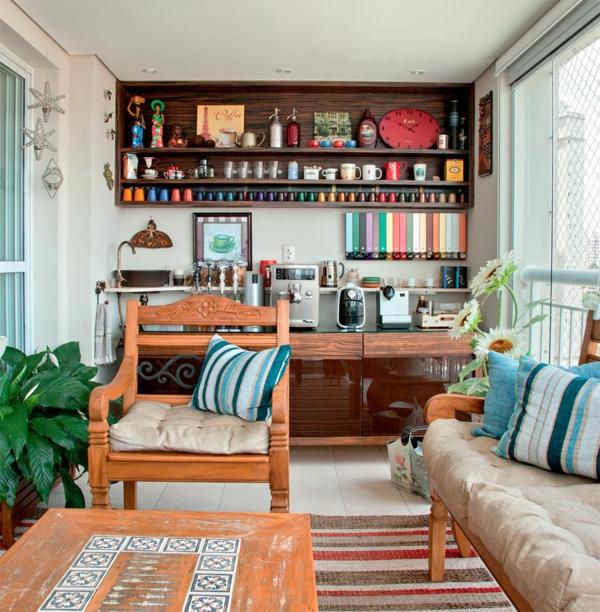 coole terrassengestaltung ideen cafe in h uslicher atmosph re. Black Bedroom Furniture Sets. Home Design Ideas
