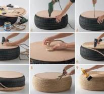 Tolle DIY Projekte – Machen Sie interessante Möbel aus Autoreifen
