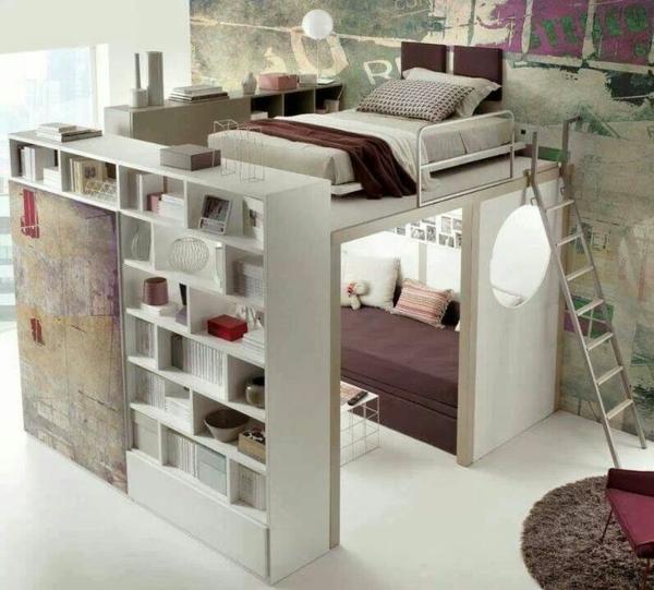 Kinderzimmer einrichtung mit effektiven methoden zum - Bett mit treppe fa r erwachsene ...