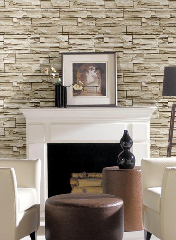 Stein Tapeten Erschaffen Ein Komfortables Ambiente In