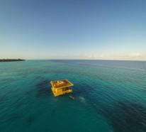 Traumhäuser – Unglaubliches Haus mitten im Meer mit einem Schlafzimmer unter  Wasser
