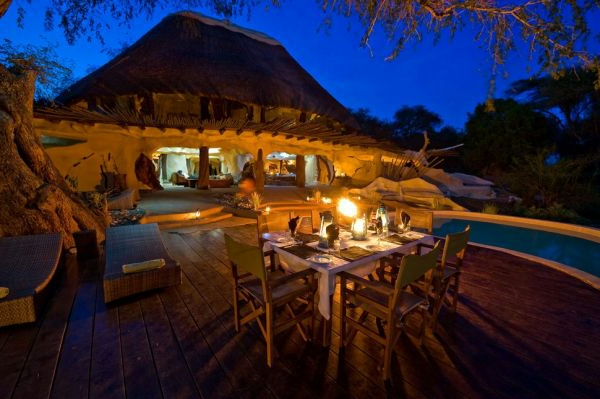 traumvilla afrika schöner außenbereich