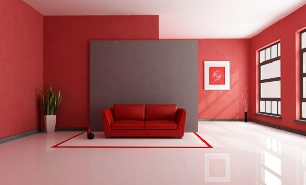rote tapeten für königlichen räumlichkeiten in ihr zuhause - Tapeten Wohnzimmer Rot
