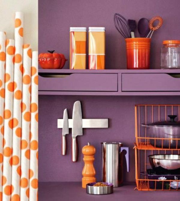 viotett wandfarbe küche gestalten