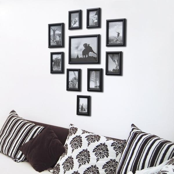 wände dekorieren bilder aufhängen