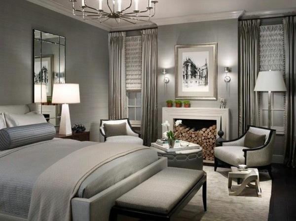 Silberne Wand wandfarbe silber ist wie licht innerhalb der innendesigngestaltung