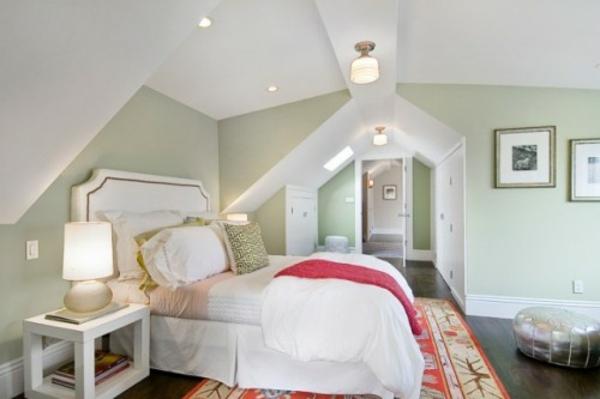 Pastelltöne Farbgestaltung Schlafzimmer Dachschräge Pastelltöne Als  Wandfarben ...