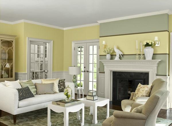 Wandfarben Wohnzimmer - Welche Farbtöne Kommen In Die Engere Wahl?