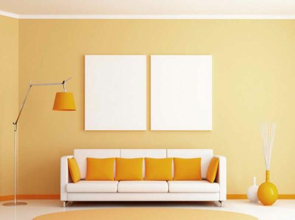 Wandfarben wohnzimmer welche farbt ne kommen in die for Warme wandfarben