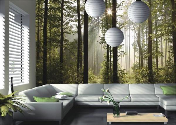 Wandgestaltung Wald Thematik Tapete