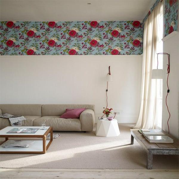 wandtapeten muster und bilder rand thema sofas wohnzimmer