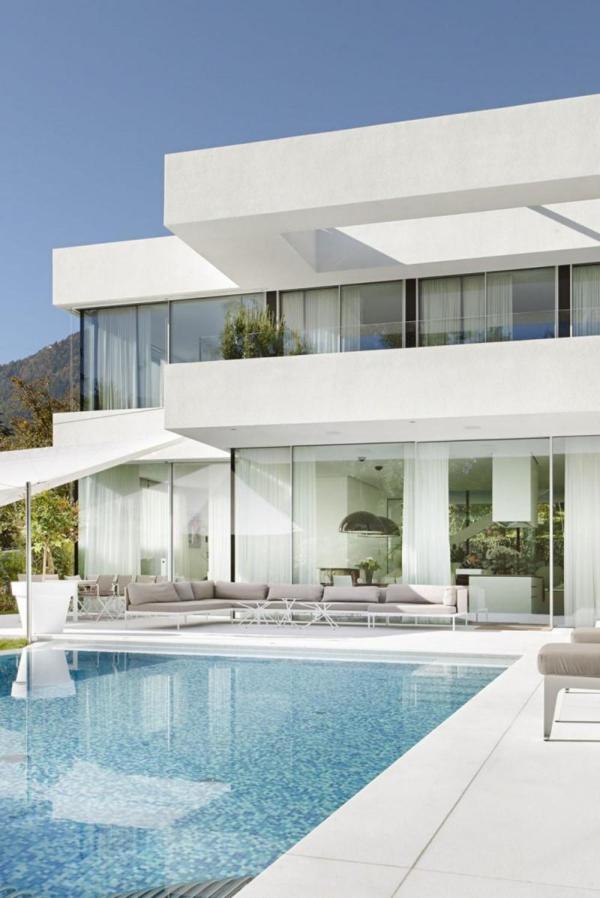 Fassade glas haus  Glasfassaden eine natürliche Verbindung mit der Natur erschaffen