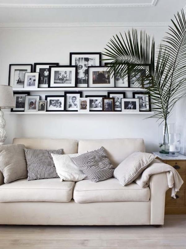 wohnzimmer dekoideen wände gestalten