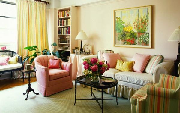 wohnzimmer dekorationen mit kissen