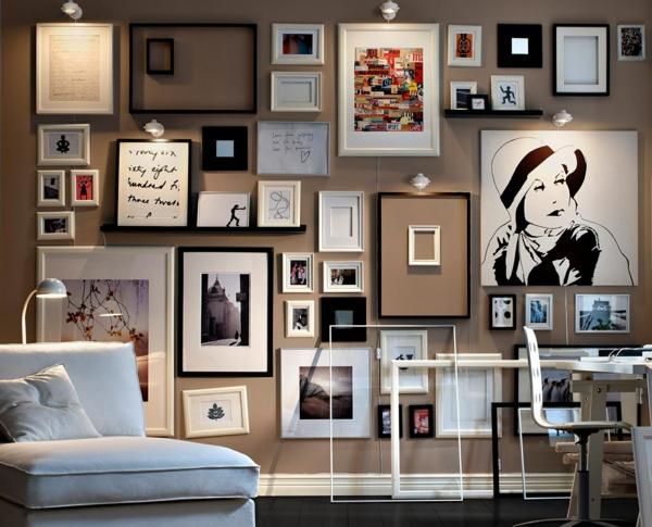 wohnzimmer ideen wandgestaltung bilder