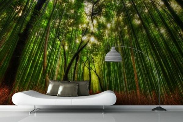 wohnzimmer minimalistisches design fototapete