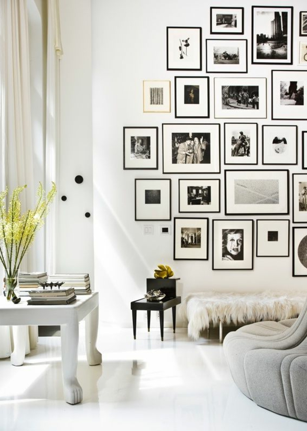 wohnzimmer wände dekorieren bilder
