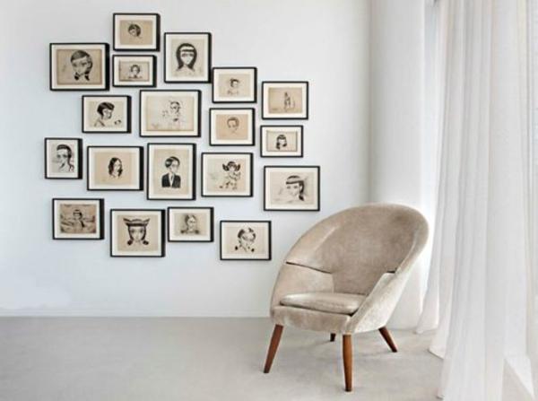 wohnzimmerwände ideen:Wohnzimmerwände Ideen für eine originelle Wandgestaltung