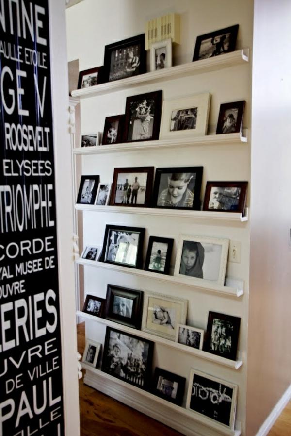 wohnzimmerwände ideen fotos weiß schwarz