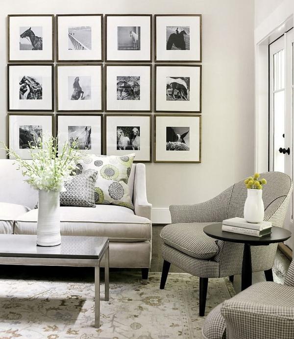 wohnzimmerwände ideen:wohnzimmerwände ideen bilder weiß schwarz