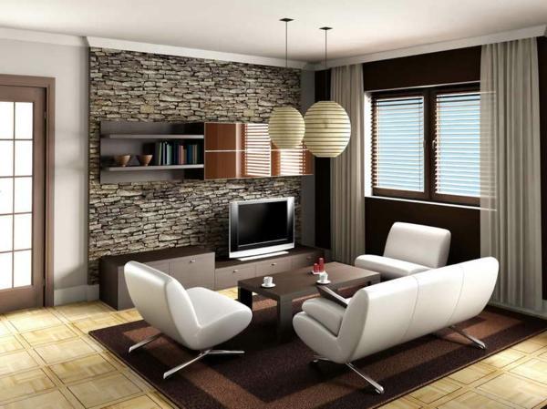Schlafzimmer Mit Tapete Gestalten : Stein Tapeten erschaffen ein komfortables Ambiente in Ihrem Zuhause