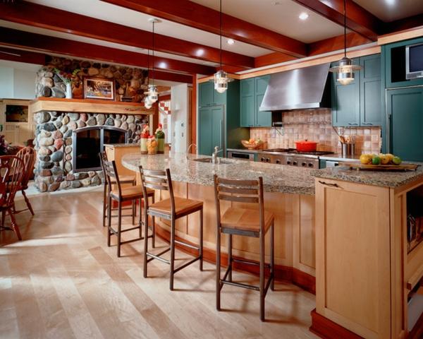 zimmer farbgestaltung küche wandgestaltung grün