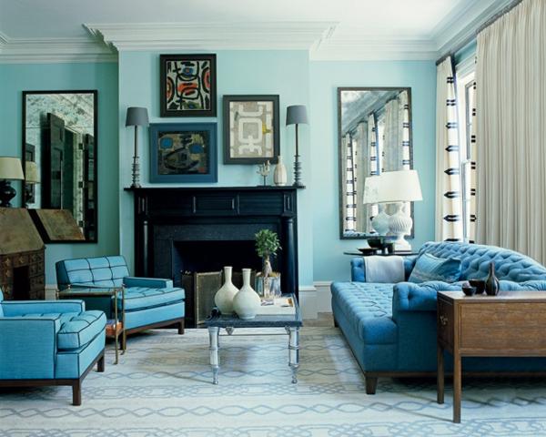 zimmer farbgestaltung salbeigrün blau