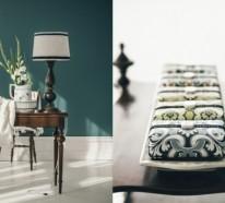Zimmer Farbgestaltung – frisches Salbeigrün im Innendesign
