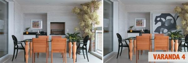 zimmerpflanzen auf der terrasse esszimmer gestalten deko pflanzenarten