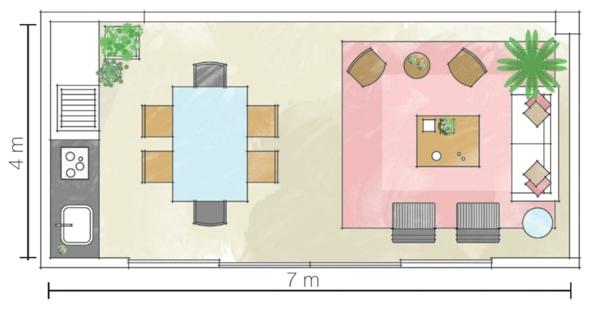 zimmerpflanzen wohnzimmer einrichtungsideen offener wohnbereich
