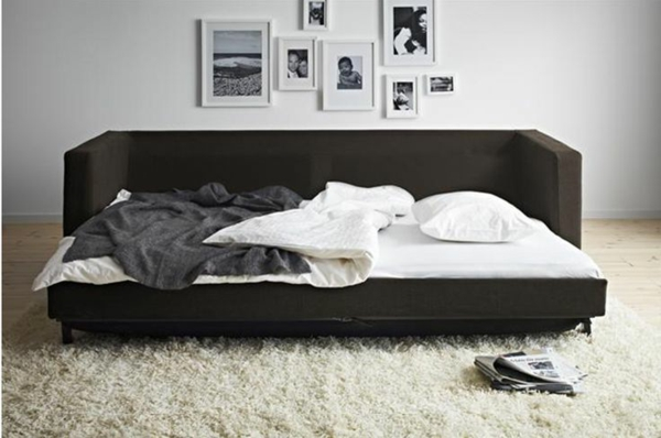 bettsofa mit matratze und bettkasten. Black Bedroom Furniture Sets. Home Design Ideas