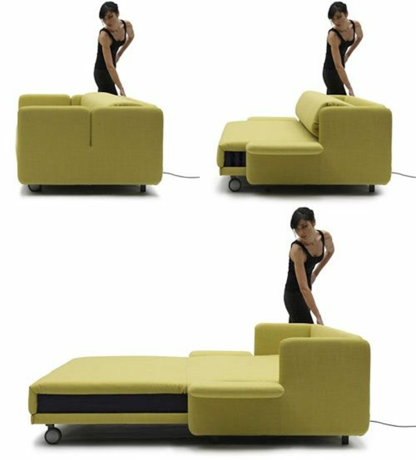 sofabett Matratze und Bettkasten schritte