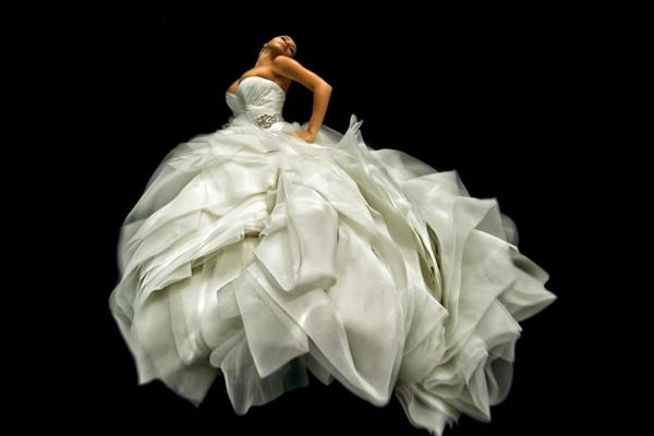 Bräute design Nixen kleid weiß hochzeit