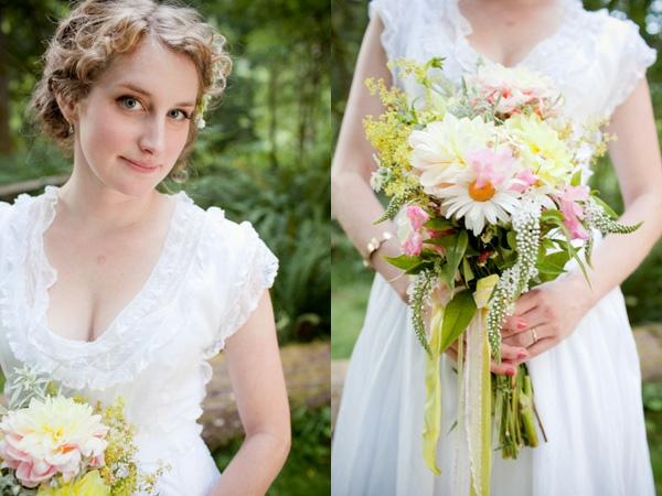 DIY Hochzeiten dekoideen blumen kleid