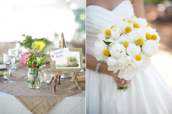 DIY Hochzeiten dekoideen blumen weiß