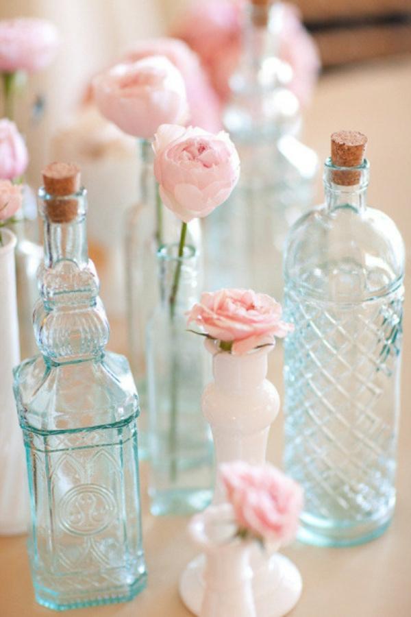 prächtig Hochzeiten dekoideen flaschen elegant