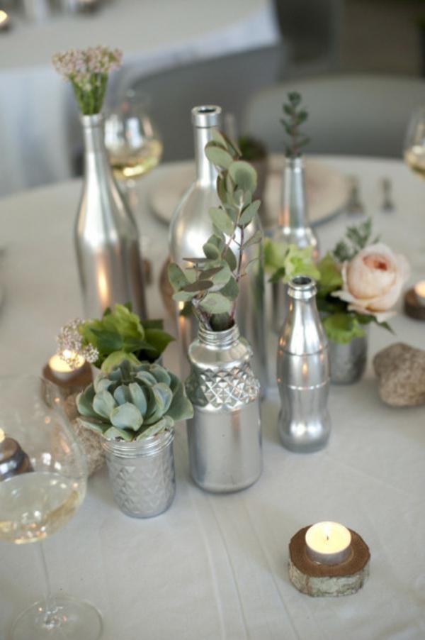 DIY Hochzeiten dekoideen glanzvoll schein