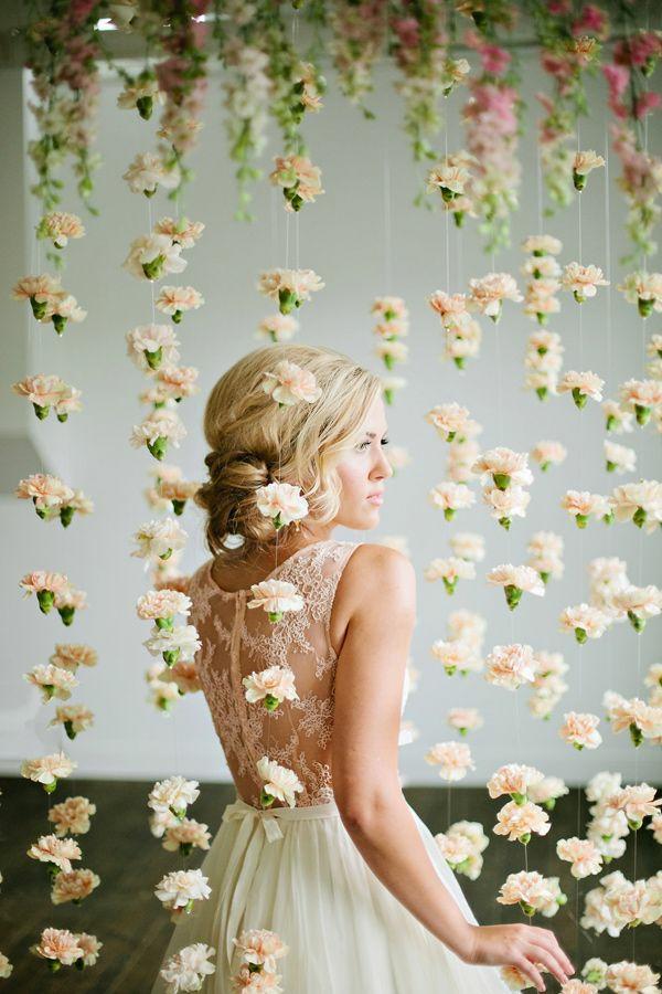 zart design Hochzeiten dekoideen hängend blumen